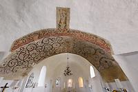 Fresken aus dem 13. Jh. in der Ny Kirke in Nyker(12.Jh.) auf der Insel Bornholm, Dänemark, Europa<br /> Frescooes )13.c.) in Ny Kirke (12.c.), Isle of Bornholm Denmark