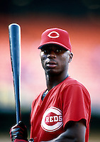 Pokey Reese of the Cincinnati Reds participates in a Major League Baseball game at Dodger Stadium during the 1998 season in Los Angeles, California. (Larry Goren/Four Seam Images)