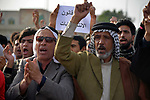 Iraqi protesters take part in an anti-government demonstration in Iraq's southern city of Nasiriyah in Dhi Qar province, on March 6, 2020. Photo by Wadaa al-Aumry