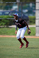 Maximo Maria (10) during the Dominican Prospect League Elite Florida Event at Pompano Beach Baseball Park on October 15, 2019 in Pompano beach, Florida.  (Mike Janes/Four Seam Images)