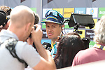 Jakob Fuglsang (DEN) Astana Pro Team at sign on before Stage 3 of the 2019 Tour de France running 215km from Binche, Belgium to Epernay, France. 8th July 2019.<br /> Picture: Colin Flockton | Cyclefile<br /> All photos usage must carry mandatory copyright credit (© Cyclefile | Colin Flockton)