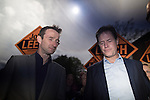 © Joel Goodman - 07973 332324 . 01/05/2015 . Manchester , UK . Nick Clegg and John Leech leave a Liberal Democrat party rally at Chorlton-cum-Hardy Golf Club . Liberal Democrat party leader Nick Clegg visits the constituency of Manchester Withington to deliver a speech on the NHS and campaign with local candidate John Leech . Photo credit : Joel Goodman