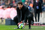 Atletico de Madrid's coach Diego Pablo Cholo Simeone during La Liga match. March 4,2018. (ALTERPHOTOS/Acero)