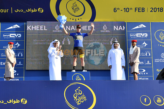 Dylan Groenewegen (Ned) Team Lotto NL-Jumbo wins Stage 1 The Nakheel Stage of the Dubai Tour 2018 the Dubai Tour's 5th edition, running 167km from Skydive Dubai to Palm Jumeirah, Dubai, United Arab Emirates. 6th February 2018.<br /> Picture: LaPresse/Massimo Paolone | Cyclefile<br /> <br /> <br /> All photos usage must carry mandatory copyright credit (© Cyclefile | LaPresse/Massimo Paolone)