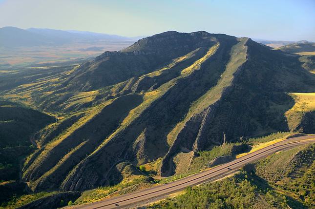 Rock formation along I-90