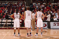 13 November 2005: Rosalyn Gold-Onwude, Morgan Clyburn, and Jillian Harmon during Stanford's 92-65 win over Love and Basketball at Maples Pavilion in Stanford, CA.