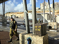 "8. ""Checkpoint"": entrance to Jerusalem.<br />