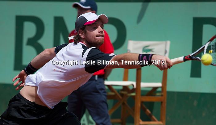 Blaz Kavcic (SLO) loses at Roland Garros in Paris, France on May 30, 2012