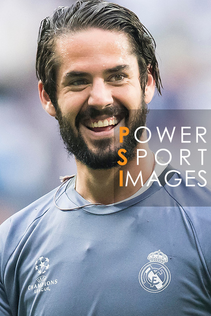 Isco Alarcon of Real Madrid in training prior to the 2016-17 UEFA Champions League Semifinals 1st leg match between Real Madrid and Atletico de Madrid at the Estadio Santiago Bernabeu on 02 May 2017 in Madrid, Spain. Photo by Diego Gonzalez Souto / Power Sport Images