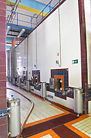 Fermentation tanks. Boutari Wineries, Steinmachos, Naoussa, Macedonia, Greece