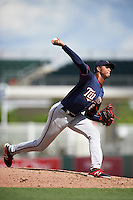 Minnesota Twins pitcher Johan Quezada (65) during an Instructional League game against the Boston Red Sox on September 23, 2016 at JetBlue Park at Fenway South in Fort Myers, Florida.  (Mike Janes/Four Seam Images)