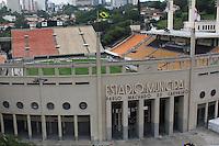 SÃO PAULO, SP, 04/12/2011, FACHADA ESTADIO PACAEMBU.<br /> <br />  Hoje será conhecido o Campeão Brasileiro de 2011, o principal jogo da rodada será no estadio do Pacaembu na tarde de hoje, onde acontecerá o classico Corinthians e Palmeiras.<br />  O Corinthians tem grande chance de conquistar o titulo maior de 2011.<br /> <br />   LUIZ GUARNIERI/ NEWS FREE