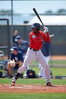 Boston Red Sox Yoan Aybar (32) during a minor league Spring Training game against the Tampa Bay Rays on March 23, 2016 at Charlotte Sports Park in Port Charlotte, Florida.  (Mike Janes/Four Seam Images)