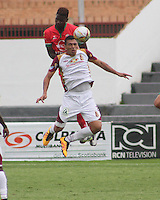 TUNJA -COLOMBIA-1-MAYO-2016.Acción de juego entre  Patriotas FC  y el Tolima durante partido por la fecha 16 de Liga Águila I 2016 jugado en el estadio La Independencia./ Actions game between Patriotas FC and  Tolima during the match for the date 16 of the Aguila League I 2016 played at La Independencia stadium in Tunja. Photo: VizzorImage / César Melgarejo  / Contribuidor