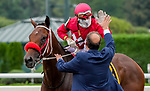 August 28, 2021: Letruska #6, ridden by jockey Irad Ortiz dig in to win the Grade 1 Personal Ensign Stakes at Saratoga Race Course in Saratoga Springs, N.Y. on August 28th, 2021. Scott Serio/Eclipse Sportswire/CSM