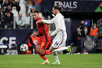 Eden Hazard of Belgium and Adrien Rabiot of France during the Uefa Nations League semi-final football match between Belgium and France at Juventus stadium in Torino (Italy), October 7th, 2021. Photo Andrea Staccioli / Insidefoto