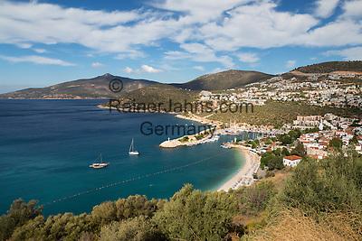 Turkey, Province Antalya, Kalkan: popular resort on the Mediterranean Coast   Tuerkei, Provinz Antalya, Kalkan: beliebter Ferienort an der Mittelmeerkueste