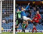 Bilel Mohsni scores the equaliser for Rangers past keeper Neil Parry