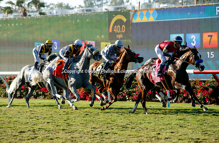 DEL MAR, CA  SEPTEMBER 4: The start of the John C. Mabee Stakes (Grade ll) on September 4, 2021, with Del Mar Thoroughbred Club in Del Mar, CA.  (Photo by Casey Phillips/Eclipse Sportswire/CSM)