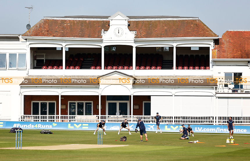 Kent players warm-up prior to Kent CCC vs Worcestershire CCC, LV Insurance County Championship Division 3 Cricket at The Spitfire Ground on 7th September 2021