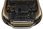 Car Stock 2021 Land Rover Defender First-Edition 5 Door SUV Engine  high angle detail view