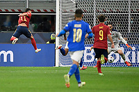 Ferran Torres of Spain scores the goal of 0-1 during the Uefa Nations League semi-final football match between Italy and Spain at San Siro stadium in Milano (Italy), October 6th, 2021. Photo Andrea Staccioli / Insidefoto