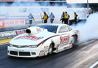 Aug 29, 2014; Clermont, IN, USA; NHRA pro stock driver Greg Anderson during qualifying for the US Nationals at Lucas Oil Raceway. Mandatory Credit: Mark J. Rebilas-USA TODAY Sports