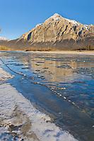 Mount Dillon, Brooks Range, reflecting in the Koyukuk River, Arctic Alaska