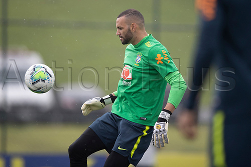 11th November 2020; Granja Comary, Teresopolis, Rio de Janeiro, Brazil; Qatar 2022 qualifiers; Weverton of Brazil during training session in Granja Comary