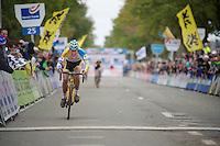 Koppenbergcross 2013<br /> <br /> race winner Tom Meeusen (BEL) crossing the finish line