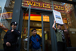 Indigenous and Activists protest against Wells Fargo investment in DAPL