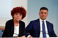 Valeria Fedeli e Vito De Filippo<br /> Roma 18/07/2017. Conferenza stampa Edilizia Scolastica 2014 - 2018.<br /> Rome July 18th 2017. Press conference about school building plan 2014 - 2018.<br /> Foto Samantha Zucchi Insidefoto
