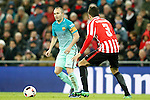 Athletic de Bilbao's Gorka Elustondo (r) and FC Barcelona's Andres Iniesta during Spanish Kings Cup match. January 05,2017. (ALTERPHOTOS/Acero)