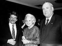 1986 file photo -<br /> Jean Dore, Mayor of Montreal (L), Jeanne sauve (M)