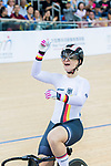 Kirstina Vogel of Germany celebrates winning in the Women's Keirin Finals during the 2017 UCI Track Cycling World Championships on 16 April 2017, in Hong Kong Velodrome, Hong Kong, China. Photo by Marcio Rodrigo Machado / Power Sport Images