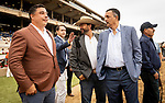 JULY 24, 2021: Simon Callaghan and Kahleem Shaw after the San Clemente Stakes at the Del Mar Fairgrounds in Del Mar, California on July 24, 2021. Evers/Eclipse Sportswire/CSM