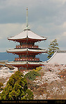 Sanjunoto 3-story Pagoda 1632, Kiyomizudera Clear Water Temple, Kyoto, Japan