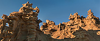 988000001 panoramic view of strange sandstone formations stand watch over the landscape in fantasy canyon a blm property in the middle of a working oil field in northeastern utah united states