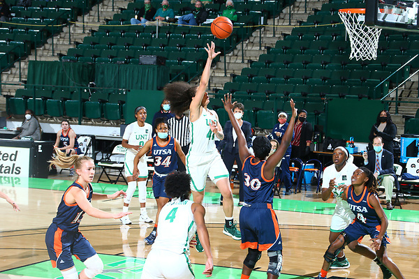 Mean Green Women's Basketball v UTSA at Super Pit in Denton on January 8, 2021