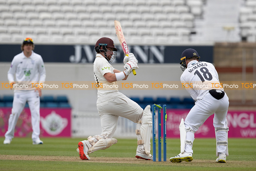 Rory Burns, Surrey CCC falls to Liam Dawson during Surrey CCC vs Hampshire CCC, LV Insurance County Championship Group 2 Cricket at the Kia Oval on 30th April 2021