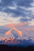 Sunrise on mount Brooks, Alaska mountain range, Denali National Park, Alaska