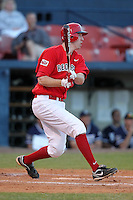 Illinois State Redbirds first baseman Zach Amrein #6 during a game vs. the Xavier Musketeers at Chain of Lakes Stadium in Winter Haven, Florida;  March 5, 2011.  Illinois State defeated Xavier 7-6.  Photo By Mike Janes/Four Seam Images