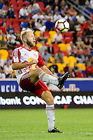 Harrison, NJ - Thursday Sept. 15, 2016: Mike Grella, Oscar Ceren Delgado during a CONCACAF Champions League match between the New York Red Bulls and Alianza FC at Red Bull Arena.