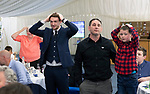 St Johnstone Player of the Year Awards Season 2018/2019, Dewars Centre, Perth 18.05.19<br />Niall Keown playing heads and tails<br />Picture by Graeme Hart.<br />Copyright Perthshire Picture Agency<br />Tel: 01738 623350  Mobile: 07990 594431