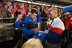 Fraser Aird during the meet and greet with fans at JD Place Stadium, Ottawa