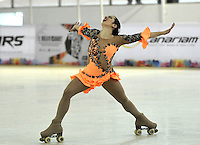 CALI – COLOMBIA – 22 – 09 – 2015: Cecilia Liendo, deportista de Argentina, Solo Danza Mayores  Damas en el LX Campeonato Mundial de Patinaje Artistico, en el Velodromo Alcides Nieto Patiño de la ciudad de Cali. / Cecilia Liendo, sportwoman from Argentina, during the Senior Solo Dance, in the LX World Championships Figure Skating, at the Alcides Nieto Patiño Velodrome in Cali City. Photo: VizzorImage / Luis Ramirez / Staff.