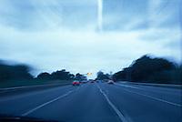 Blurred car rear lights<br />