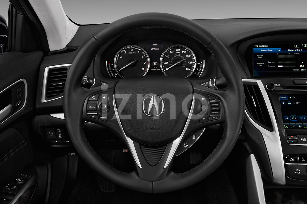 Car pictures of steering wheel view of a 2020 Acura TLX AUTO 4 Door Sedan