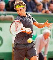 03-06-12, France, Paris, Tennis, Roland Garros, Roger Federer