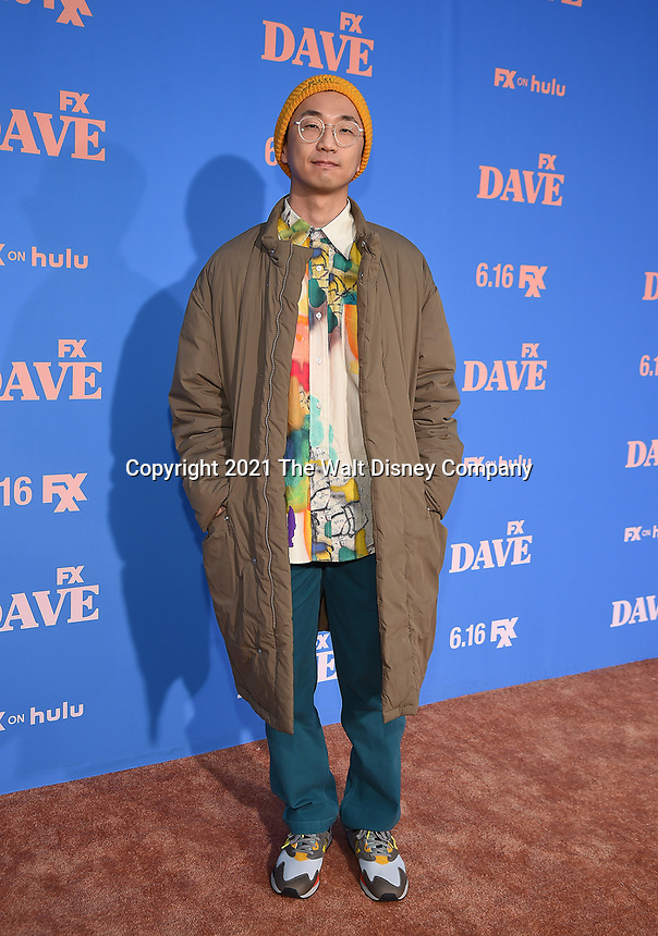 """LOS ANGELES, CA - JUNE 10: Co-Executive Producer Sung-Jin Lee attends the Season Two Red Carpet event for FXX's """"DAVE"""" at the Greek Theater on June 10, 2021 in Los Angeles, California. (Photo by Frank Micelotta/FXX/PictureGroup)"""
